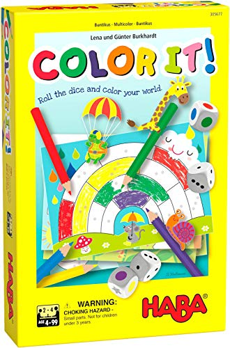 HABA Color It! - A Roll & Write Coloring Game with 2 Variants