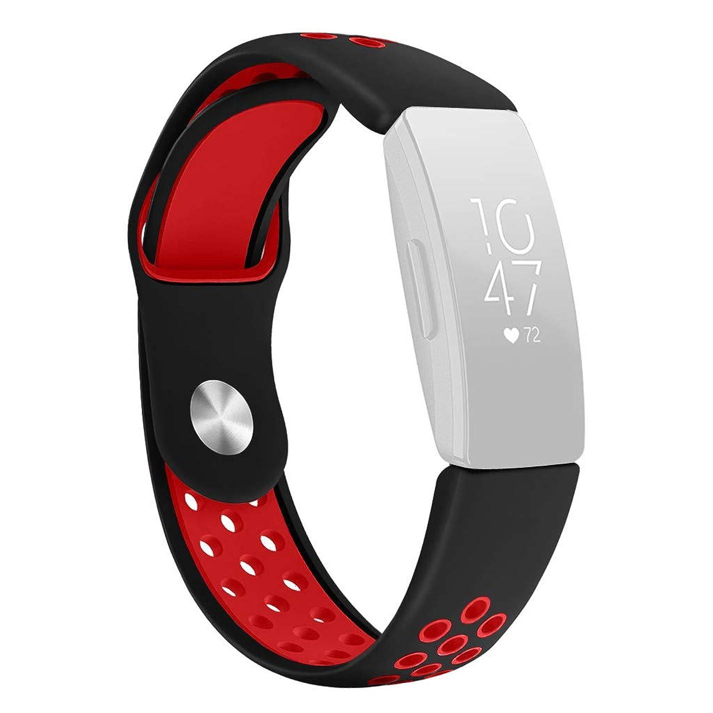 罰する帆覆す4Fires 腕時計バンド メンズ&レディースブレスレット,Fitbit Inspire/Inspire HRのための大型の新しい方法スポーツのシリコーンのブレスレットの革紐バンド