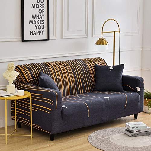 Fundas de sofá elásticas para Sala de Estar, Funda de sofá a Cuadros elástica, Funda de sofá, Funda de sofá, decoración del hogar, A28, 3 plazas