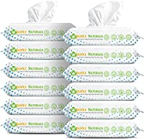 Jadole Naturals Baby Wipes 99.9% Water Baby Diaper Textured Wipes, 12 Pop-Top Packs x60 Wipes, 720 Count Aqua Pure...