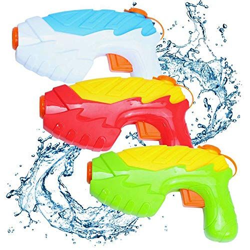 QUN XING Water Gun for Kids 3 Packs, Small Water Pistol with Long Range High Capacity Soaker Squirt Toy Swimming Pool Beach Water Guns Fighting Toys