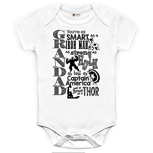 Marvel Comics Grandad abuelo body y gorro para bebé, diseño serigrafiado Onesie...