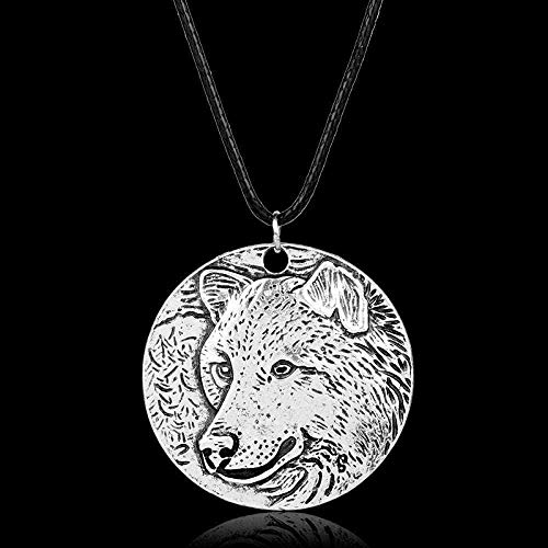 NC188 Necklace for men women unisex necklace wolf animal punk jewelry jewelry accessories leather cord chain pendant necklaces pendant necklace girls boys gift