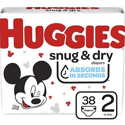 HUGGIES Snug & Dry Diapers, Size 2, 38 Count, JUMBO PACK (Packaging May Vary)