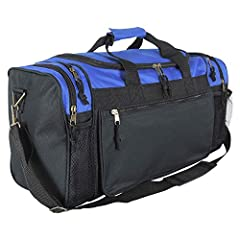 """SIZE: 20"""" X 10"""" X 9"""" MATERIAL: Polyester FEATURES: Mesh Water Bottle /Cellphone Pocket Colors: Royal blue Closure: Zipper, Comes with Shoulder Strap"""