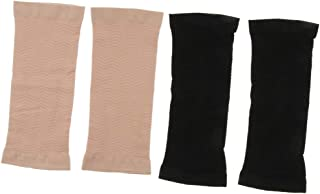 Prettyia 2 Pairs Arm Trimmers for Men & Women - Increasing Heat and Sweat - Upper Arm Wrap Sleeves