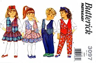 Childrens Vest Top Skirt Pants Butterick 3097 Sewing Pattern Size 2 - 3 - 4