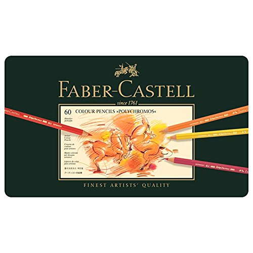 Faber-Castell Polychromos Colored Pencil Set in Metal Tin 60pc-