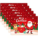 Bestonzon, 6 tovagliette natalizie, per sala da pranzo, cucina, decorazione da tavolo (43 x 30 x 0,05 cm)