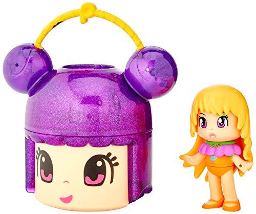 Pinypon- Cabecita sorpresa Glitter rosa y figura lila (Famosa 700015563)