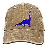 NZ 2019 Adulte Mode Coton Denim Baseball Cap Brachiosaurus Dinosaure Classique Papa Chapeau Réglable Plaine Casquette Naturel
