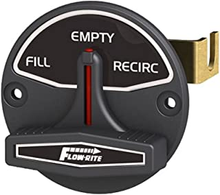 Fill/Recirc/Empty, for Use With 3-Position Select Valve, Black/White