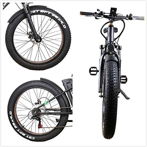 Nakto - Bicicleta eléctrica de montaña o Playa (26 Pulgadas, 4 ...
