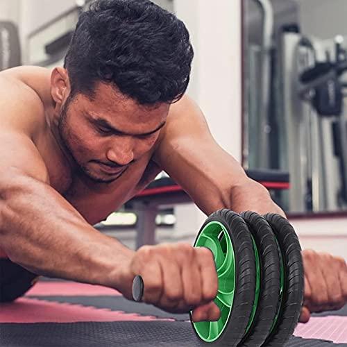 TYUXINSD Mach Dich stark Rollelrad, Bauchrolle Übungsgeräte Barbell Bauchrad mit abnehmbarem Rad für Kerntraining Fitness Übung Muskelwachstum Physiotherapie für Männer Frauen