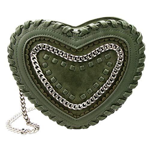 Alpenflüstern Trachten-Herztasche Emma grün DTA082