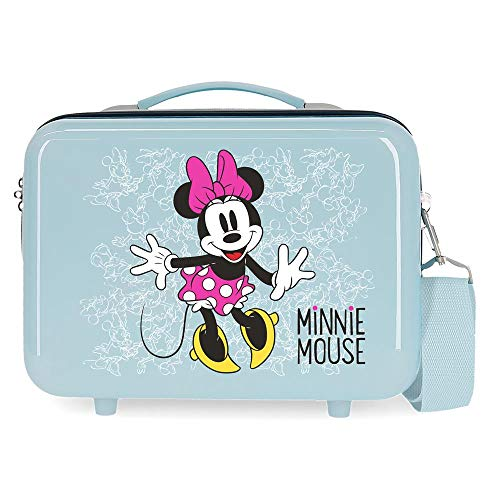 Disney Minnie Enjoy the Day Trousse de toilette adaptable Bleu 66x48x26 cms ABS