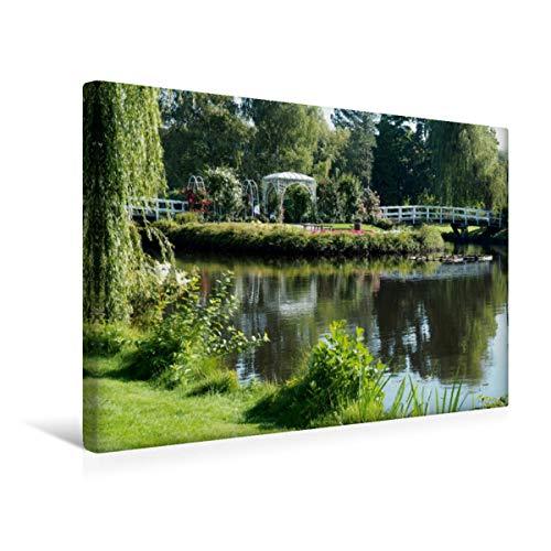 CALVENDO Premium Textil-Leinwand 45 cm x 30 cm quer, Hochzeitsinsel   Wandbild, Bild auf Keilrahmen, Fertigbild auf echter Leinwand, Leinwanddruck: im Rosarium Uetersen Orte Orte