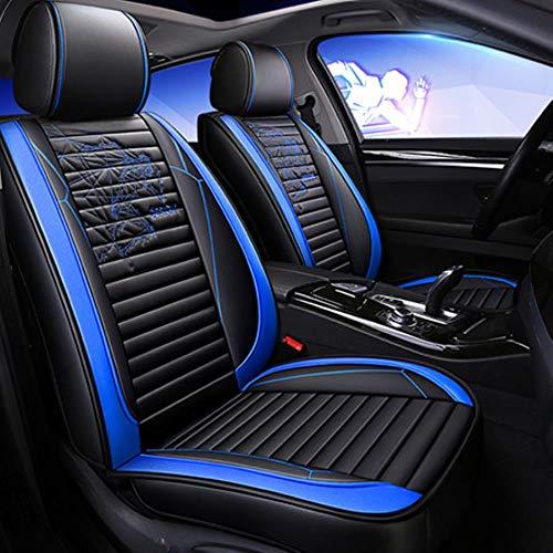 LUOLONG autostoelhoezen, nieuw universeel leer stoelhoezen voor FIAT Marea Palio Panda Grande Punto stilo UNO tempra 2013 2012 2011 2010 kussen Blue standaard.