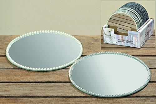 B Kerzenteller Glasplatte Spiegel Platte Kerzenplatte Deko Stückpreis