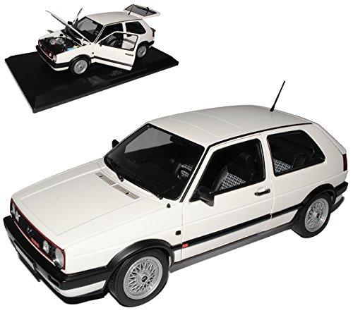 Norev Volkwagen Golf II GTI G60 Weiss 1983-1992 1/18 Modell Auto mit individiuellem Wunschkennzeichen