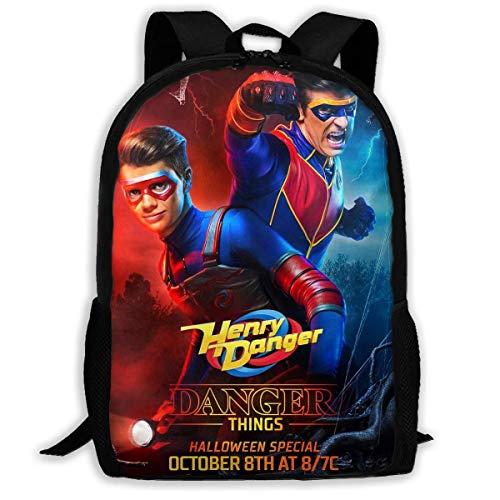 Mochilas Escolares de Viaje Danger TV Show of Henry Printed School Backpack Water Resistant Travel Rucksack Bag Laptop Lightweight Backpack Daypack