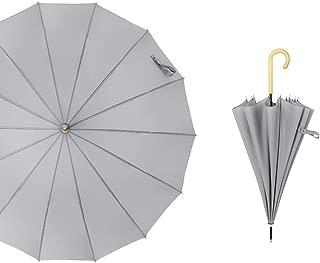 YQRYP Umbrella Automatic Straight Umbrella Long Handle Business Advertising Umbrella Double Reinforcement Windproof Windproof Umbrella, Golf Umbrella (Color : Gray)