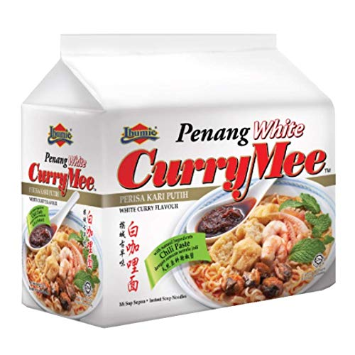 Ibumie Penang White Curry Mee / Fragrant & Spicy, Rich & Creamy Broth, Authentic Piping Hot Flavor from Food Heaven, Penang Malaysia (4 packets x 105g)