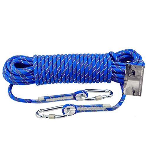 WSJ Outdoor Climbing Rope/Emergency Bundle Rope/Safety Rescue Rope, Wear-resistant Polypropylene Rope - Diameter 10mm, Blue (Size : 70m)