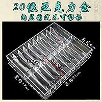 金と銀のブレスレットボックスブレスレット翡翠ブレスレットジュエリーボックス木製ボックスの表示ストレージ LYMY (Color : 无盖20位亚克力盒)