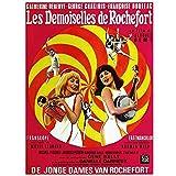 weihuobu Les Demoiselles de Rochefort Les Jeunes Filles de Rochefort Film Romance Art Mural Toile Peinture Photo Affiches et estampes oeuvre -50x70cm sans Cadre