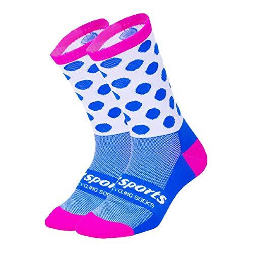 DFVX DH Deportes Profesional Ciclismo Calcetines Hombres Mujeres Bicicleta de Carretera Calcetines al aire libre Marca de Carreras Bicicleta de Compresión Calcetines