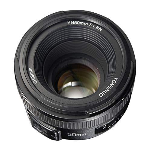 H HILABEE Lente de Gran Apertura de Enfoque, Lente Prime Estándar, Objetivo para Nikon, Diámetro de Filtro: 58mm