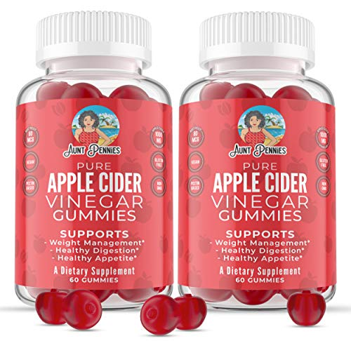 Apple Cider Vinegar Gummies for Weight Management Support 1000mg with The Mother, Complete Cleanse and Detox Plus Healthy Digestion Support and Appetite Management, 60 Vegan Gummies 2Pack