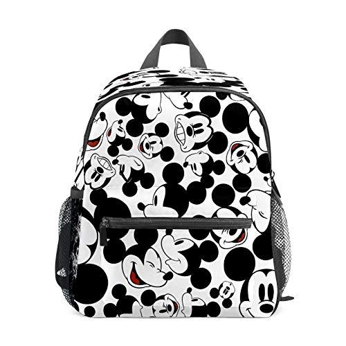Mochila infantil para niños de 1 a 6 años de edad, bolsa de escuela para niños y niñas, bolsa de hombro ligera, mochila perfecta para niños pequeños a Kindergarten Happy Mickey Mouse