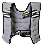Encased Weighted Vest for Men/Women Workout, Adjustable Vest for Running/Sports Training - Black (12lb)