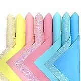 ZAIONE Gemischte 8 Stück Bonbon-Farben Serie Glitter