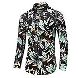 HDDFG Camisa de otoño para hombre, camisa de diseño único, camisa de manga larga estampada a rayas, camisa de oficina informal ajustada para hombre, M-7XL (Color : B, Size : M code)