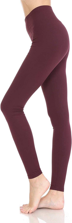 Leggings Depot Cotton Women's Premium Quality Ultra Soft Solid Leggings