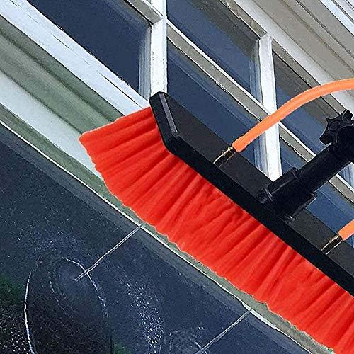 LYFWMGOD Kit de limpieza telescópica para postes de extensión para ventanas, Limpieza de Agua de Paneles solares fotovoltaicos, para coches, caravanas, camiones, autocaravanas,3,6m