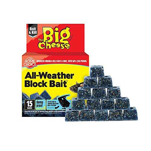 The Big Cheese All-Weather Block Bait (15 x 10g) Rat & Mouse Bait, Quick...