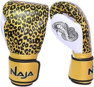 Extreme Pro Grade Boxing Gloves, Kickboxing Bagwork Gel Sparring Training, Muay Thai Style Punching, Fight Gloves in Leopard Print