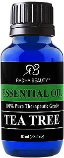 New Radha Beauty Tea Tree Essential Oil 10ml. - 100% Pure & Natural Premium Melaleuca Therapeutic Grade - Great with Soaps...