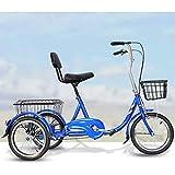 Triciclo de Adultos Triciclo Adulto Adult Tricycle Triciclo adulto 3 rueda bicicleta, triciclos trikes 16 pulgadas tres ruedas bicicletas de acero de alto carbono marco ajustable altura ajustable resp