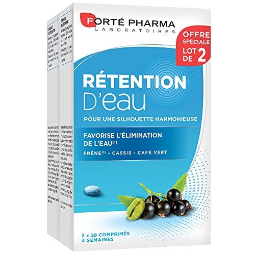 Forté Pharma - Rétention d'eau   Complément Alimentaire à base de Frêne, Cassis et Café Vert - Elimination   Lot de 2 x 28 comprimés