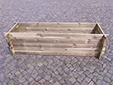 BIHL Stabiler Holzkomposter Komposter Kompostbehälter Hochbeet 195 x 65 x 51 cm 19 mm