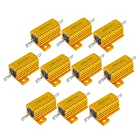 Milageto 10ピース/個プレミアムアルミニウムクラッドパワーレジスタ25W 3.9Ohmツールユニバーサル