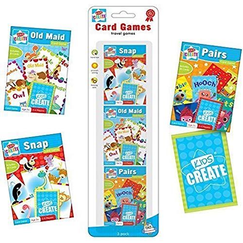 3x Klassische Kinder Kartenspiele, Snap, Pairs, Old Maid
