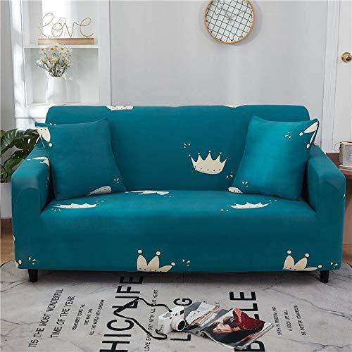 WXQY Funda de sofá Floral de poliéster, Funda de sofá retráctil para Sala de Estar, Funda de sofá elástica para Silla, Funda de sofá, Toalla, Funda de sofá A17, 1 Plaza