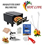 HOTLIFE Micro Smart Looking High Quality Electric Tandoor Combo 1500W (Black) Steel Element 3 Year Warranty for Heating Element