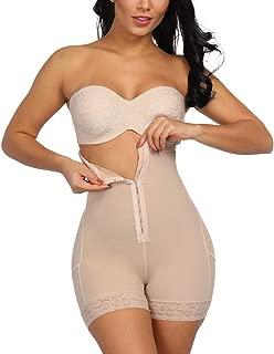 KINJOHI Women High Waist Body Shaper Butt Lifter Tummy Control Shapewear Boyshorts Open Bust Bodysuits